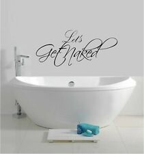 """Let's Get Naked Vinyl Decal Home Décor 8"""" x 20"""""""