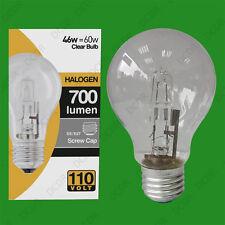 12x 110V 46W=60W Halogen GLS E27 Clear Construction Site Festoon Light Bulb Lamp