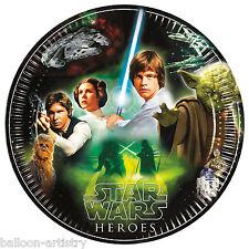 8 Star Wars eroi ribelli Jedi Bambini Festa di Compleanno 23cm carta PIASTRE