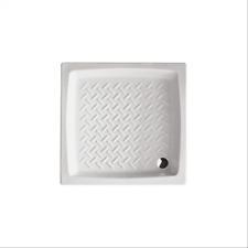 Piatto doccia 65x65 quadrato in ceramica bianca smaltata disegno antiscivolo