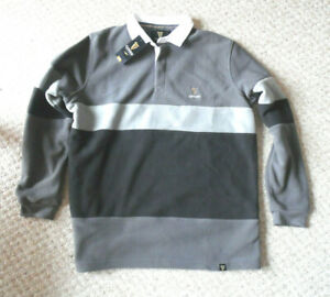 GUINNESS FLEECE RUGBY SHIRT. SIZE LARGE.