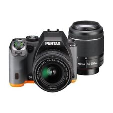 USED Pentax K-S2 with 18-50mm & 50-200mm WR Black/Orange Excellent FREE SHIPPING