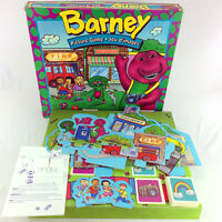 Barney & Friends Picture Board Game Rare Vintage 90s Collectible Purple Dinosaur