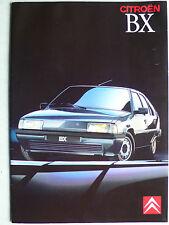 Prospekt Citroen BX Limousine und Break, mit 16V, ca.1987, 32 Seiten