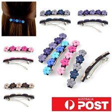 2pc/ Flower Rhinestone Crystal Hairclip Hairpin Clip Paris Hair Barrette Girls