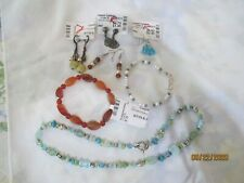 Handcrafted Quality Beaded Jewelry items: 1 Necklace, 2 Bracelets, 4 pr Earrings