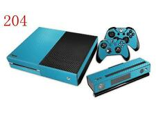 XBox One Console and Controller Skins -- Blue Carbon Fiber Design (#204)