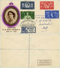 More details for gb 1953 coronation first day cover smethwick registered p.t.s envelope