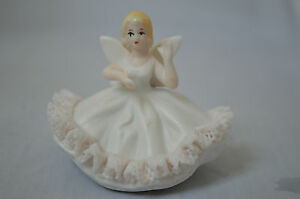 Vintage Ardalt Lenwile China Porcelain Hand Painted Angel Figurine - Japan
