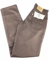 Levis 707 Mens Brown Pants Student Fit Straight Vintage Made In USA Sz 30x34 NWT