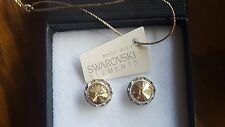 Genuine Swarovski Elements Crystal Gift Boxed Stud Earrings 13mm - 10 Colours Light Rose
