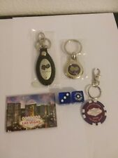 las vegas key chains, dice and magnet lot of 5