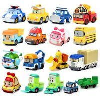 25 Styles Car Robocar Poli Toy Vehicle Magazine Model Christmas Cartoon Metal