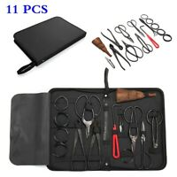 Bonsai Tools Set 10Pcs Kit Cutter Scissor Shears Tree w/Nylon Case,Carbon Steel