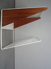 mid century design - Teak Holz Wandkonsole minimalistische Wand Ablage ~60er