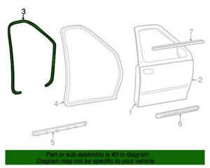 NEW OEM Ford Front Door Body Weatherstrip Seal 2L3Z-1520708-AA F-150 1997-2003