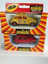 2x Solido Metal 1984 Citroen 2 CV 6 No.1359 & Renault Super 5 1:43 Scale NOS