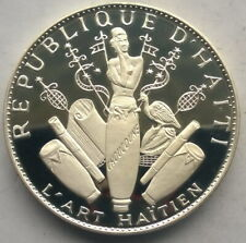Haiti 1970 Art Objects 25 Gourde 3.77oz Silver Coin,Proof