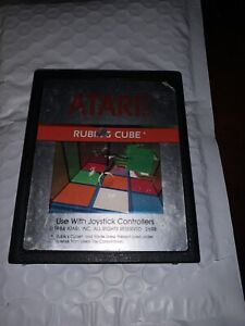 Atari 2600 Game Rubiks Cube Rubik's Cube Atari Club Special! Tested And Cleaned!