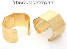 5 Sided Brass Bracelet Cuff Blanks For Jewelry Making 1.5 inch Pkg Of 2