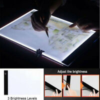 Dimmable USB A4 LED Light Box Tracing Board Art Stencil Drawing Pattern Pad FD