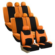 3 Row Light Breezy Flat Cloth Seat Covers Full Set 8 Seaters Universal Fit