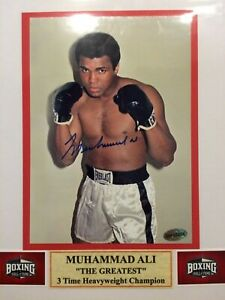 CHRISTMAS SPECIAL Muhammad Ali Autograph 5x7 matted to 8x10 Color Photo w/coa