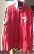 Mens Nike #9 Red Zip Up Jogging Basketball Active Jacket Sz L