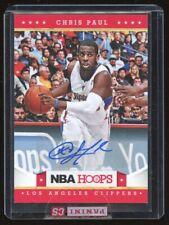 2012 NBA Hoops Chris Paul # 189 Autograph AUTO Card