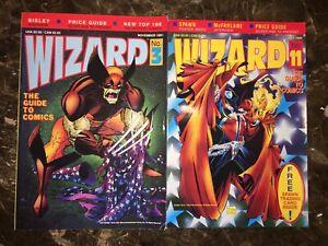 Wizard Magazine #3 & 11 Larsen Wolverine McFarlane Spawn FN/VF