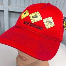 New Zealand Kiwi Rugby Red Mesh Trucker Snapback Baseball Hat Cap