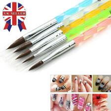 5 Pcs Professional Acrylic Nail Art UV Gel Carving Brush Cuticle Pen Set Tools