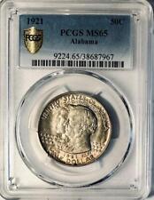 1921 Alabama Commemorative Silver Half Dollar- PCGS MS 65 - Lightly Toned