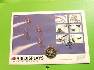 MERCURY BU COIN COVER BATTLE OF BRITAIN MEMORAIL FLIGHT ON A GIBRALTAR CROWN
