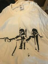 PULP FICTION Star Wars Uomo T Shirt Stormtrooper Darth Retrò Pellicola Banksy Hipster