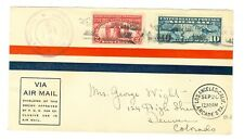 1927 LINDBERGH LOS ANGELES COVER AAMC L#164 U.S. GOODWILL TOUR, C7,#627