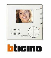 BTICINO VIDEOCITOFONO 2 FILI VIVAVOCE COLORI CLASSE 100 V12B 344502 SOLO MONITOR