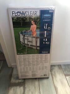 Bestway Flowclear Poolleiter 84 cm 2 Stufen Einstiegsleiter Schwimmbadleiter