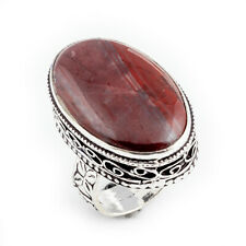 Iron Tiger Gemstone Handmade 925 Sterling Silver jewelry Ring Size 7.5 0789