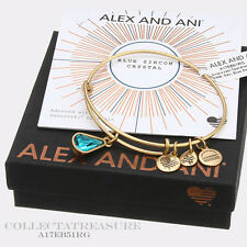 Authentic Alex and Ani Teardrop December Birthstone Rafaelian Gold Bangle