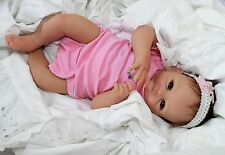 LITTLE LOVE! - Newborn 17 Inch Collectors Life Like Baby Girl Doll + 2 Outfits