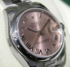 Rolex DATEJUST 178240 Midsize Stainless Steel Oyster Pink Roman Dial 31MM