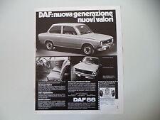 advertising Pubblicità 1973 DAF 66 MARATHON BERLINA/COUPE'