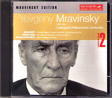 MRAVINSKY: MOZART Symphony No.39 SIBELIUS No.7 Swan of Tuonela MUSSORGSKY CD