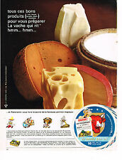 PUBLICITE ADVERTISING 093 1967   LA VACHE QUI RIT  fromage  hmmm hmmm