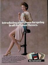 1989 NO NONSENSE PANTYHOSE  SHEER : ICE CREAM SUNDAE   PRINT AD