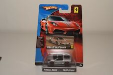 V 1:64 HOTWHEELS RACER FERRARI F430 F 430 SPIDER GREY MINT BOXED ON CARD RARE