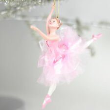 "Nutcracker Ballet Adult Ballerina in Pink 6.7"" Resin  Christmas Ornament NEW"