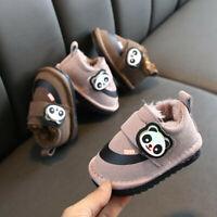 Toddler Baby Girls Boys LED Cartoon Light Booties Shoes Luminous Warm Sneakers
