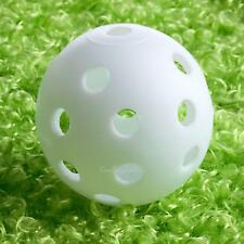 50x White Plastic Hollow Airflow Golf Ball Sports Training Practice Tennis 42mm